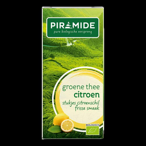 Piramide Groene thee citroen bio 20 builtjes