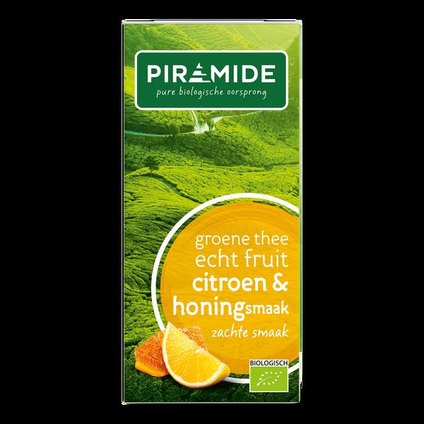 Piramide Groene thee citroen met honing bio 20 builtjes