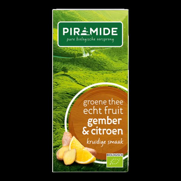 Piramide Groene thee citroen/gemb bio 20 builtjes