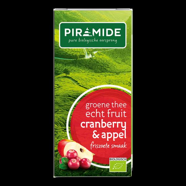 Piramide Groene thee cranberry/appel bio 20 builtjes