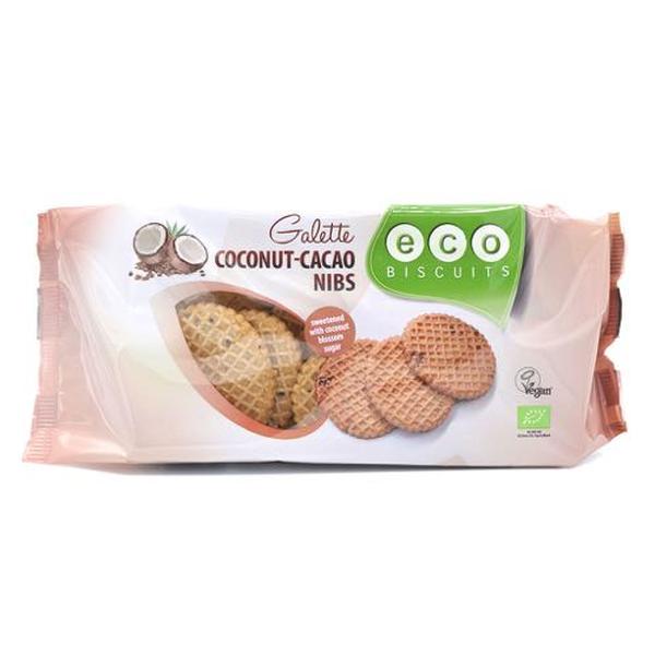 Eco-Bisc. Kokos-cacaonibs galet bio 120g