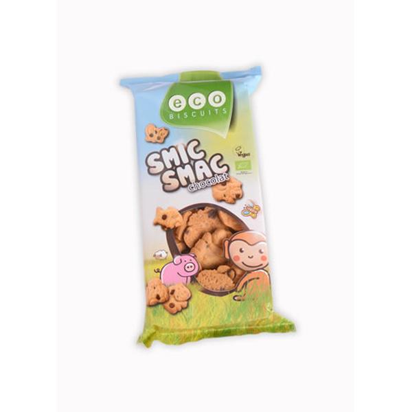 Eco-Bisc. Smic smac chocolade bio 150g